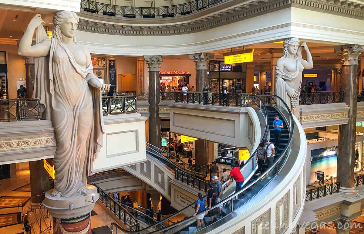 The Forum Shops at Caesars Palace in Las Vegas