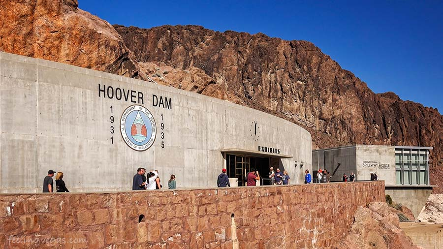 hoover dam spillway house and exhibits