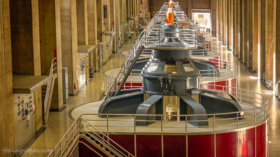 hoover dam generators in the powerplant