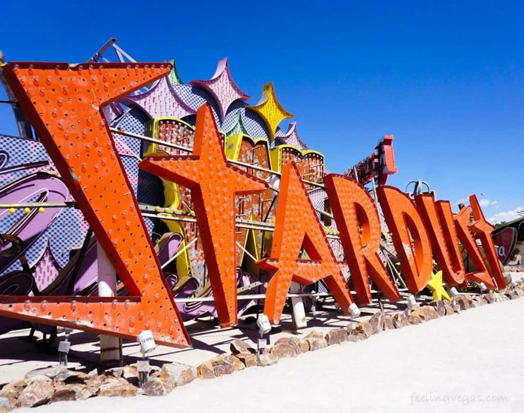 stardust sign in Neon Museum boneyard