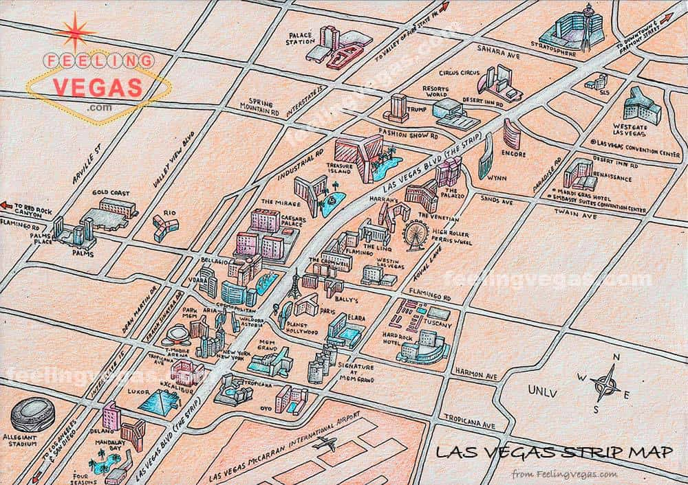 Las Vegas Strip Map Downloadable PDF