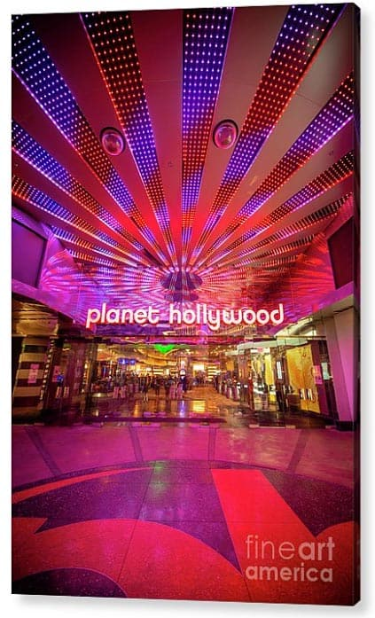 Planet Hollywood Las Vegas printed on acrylic. Photograph by Bryan Mullennix