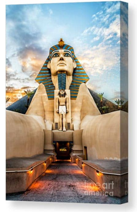 Canvas print of the Sphinx at the Luxor Las Vegas.
