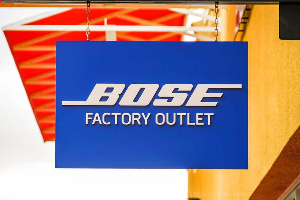 Bose Factory Outlet store in Las Vegas North Premium Outlet shopping mall.