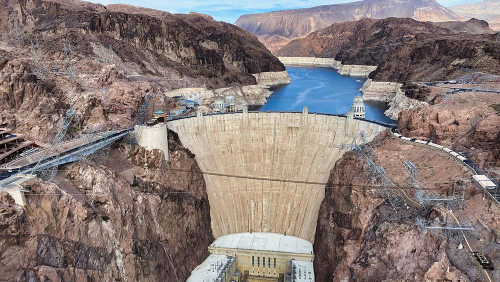 Hoover Dam is a great weekend day trip from Las Vegas.