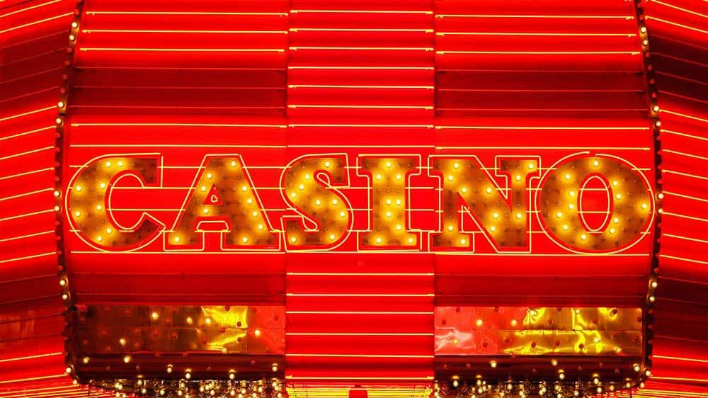 Casino in lights in Las Vegas