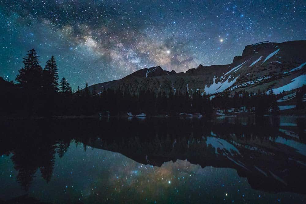 Milky Way over Stella Lake in Great Basin National Park