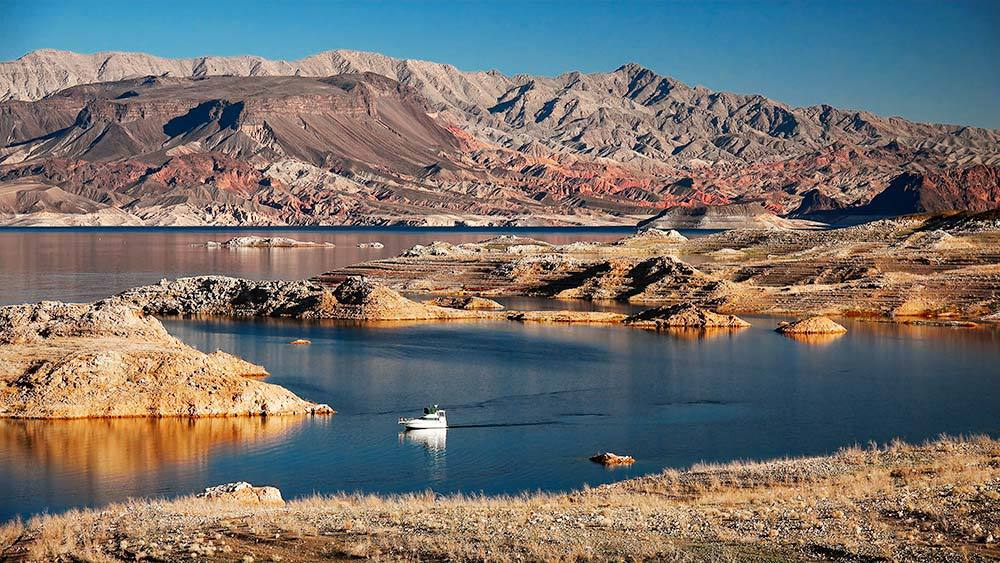 Lake Mead National Recreation Area just outside of Las Vegas