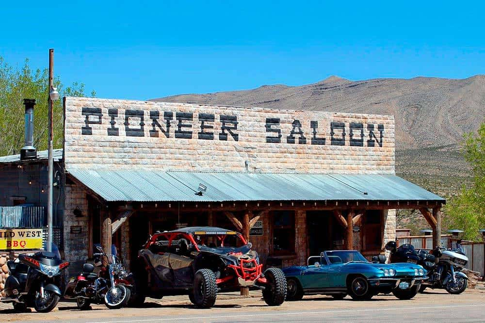 Pioneer Saloon in Goodsprings, Nevada is a great area close to Las Vegas for viewing the night sky