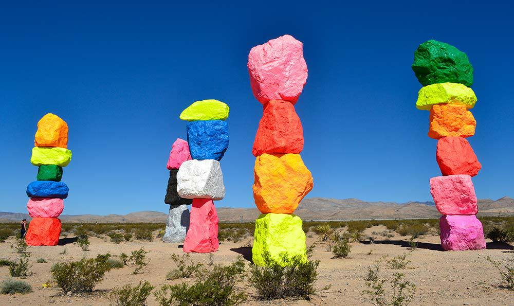 The Seven Magic Mountains near Las Vegas