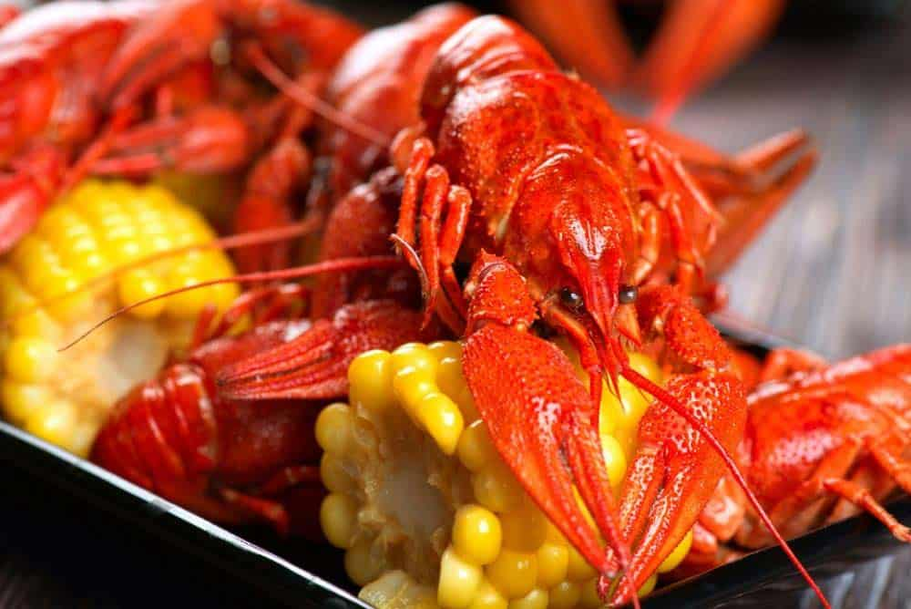 Creole style Crawfish and corn