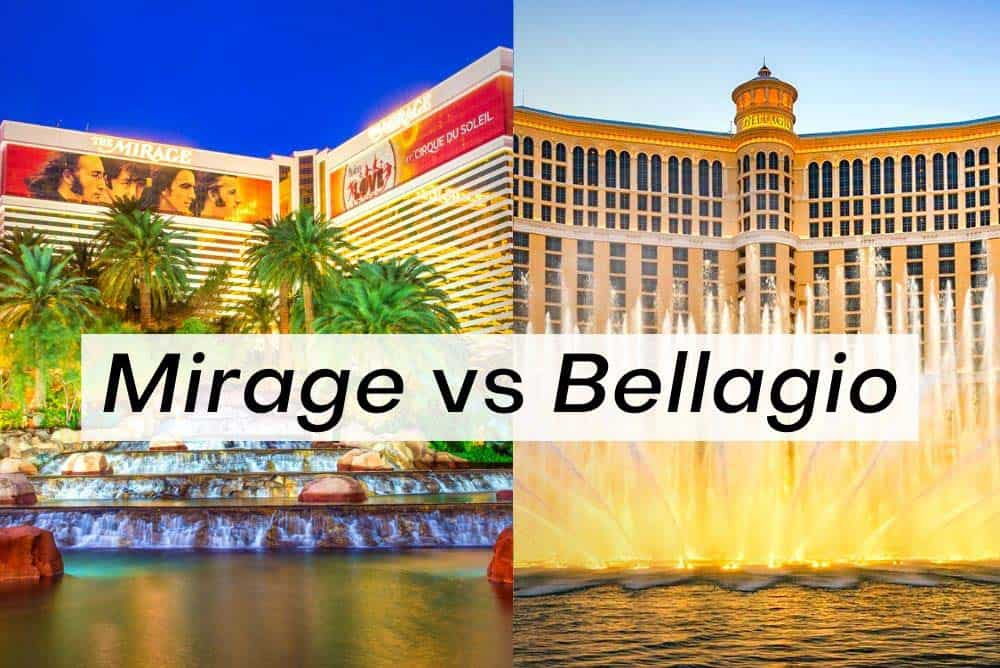 The Mirage vs Bellagio Las Vegas. Which one's better?