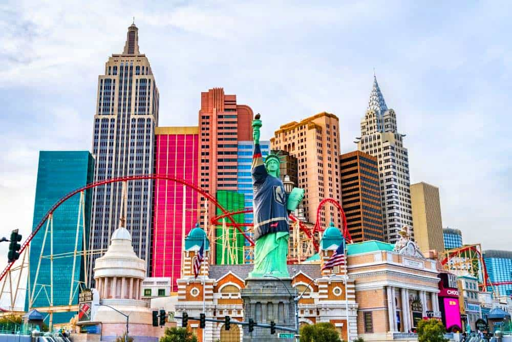 New York New York is just a few minutes walk from the MGM Grand