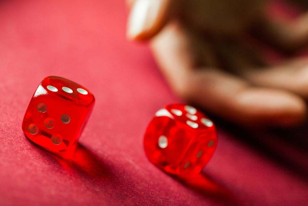 Rolling pair of red dice