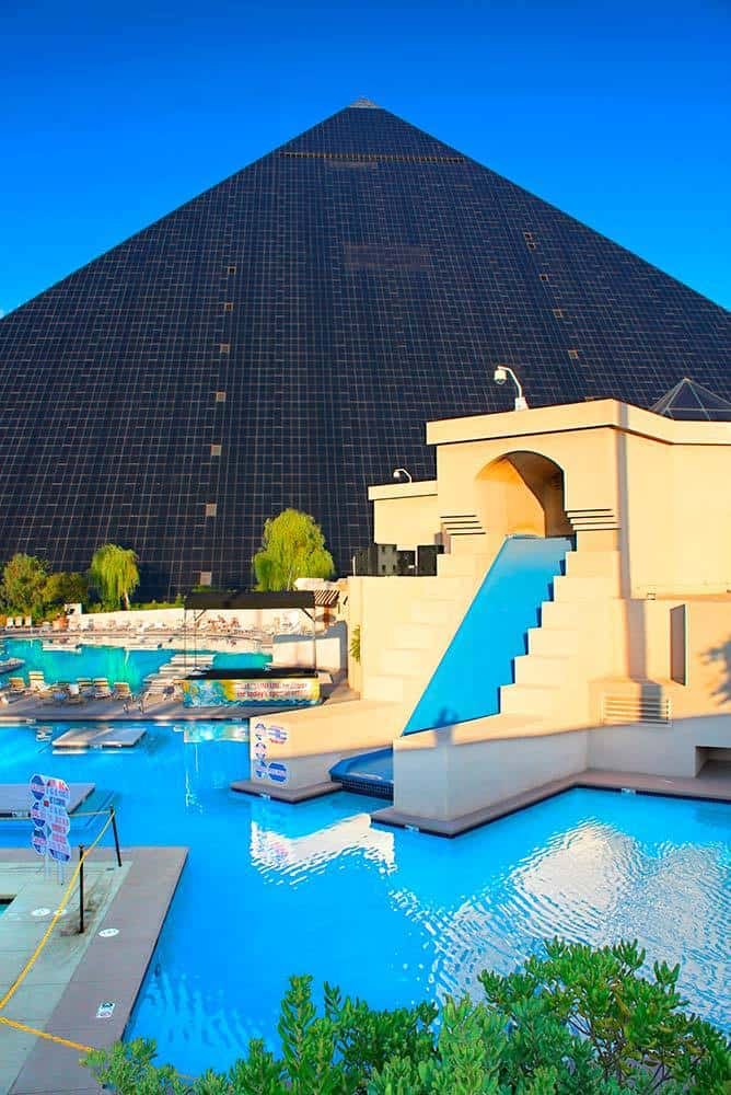 Pool area at the Luxor Las Vegas