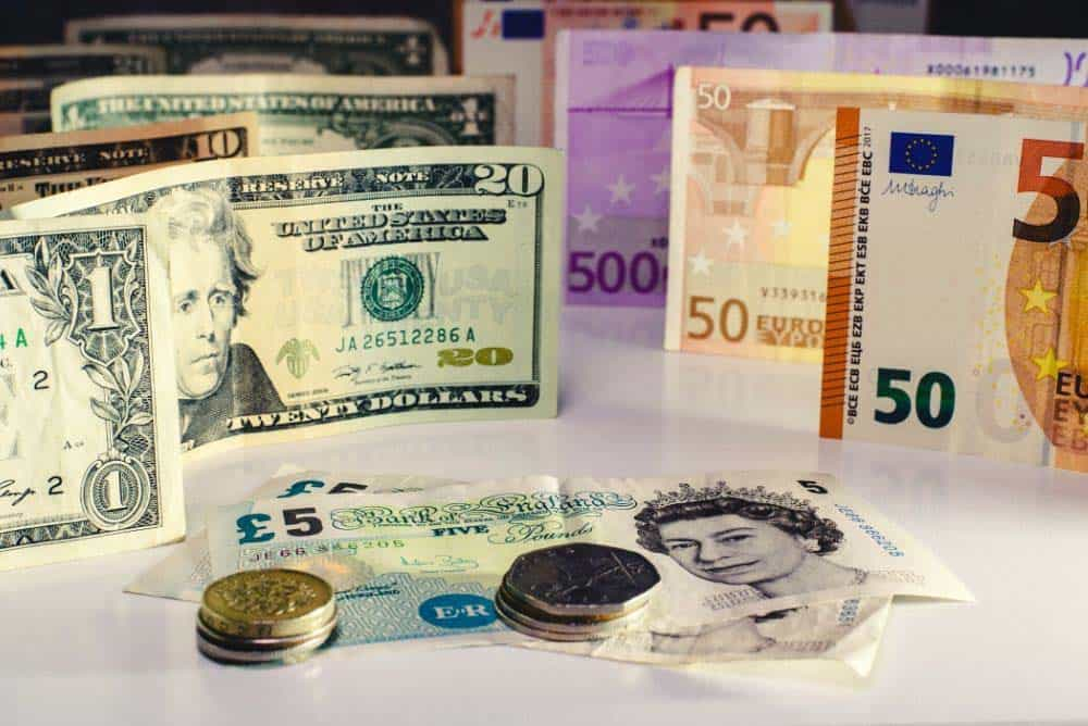 UK Pound Sterling and US Dollars