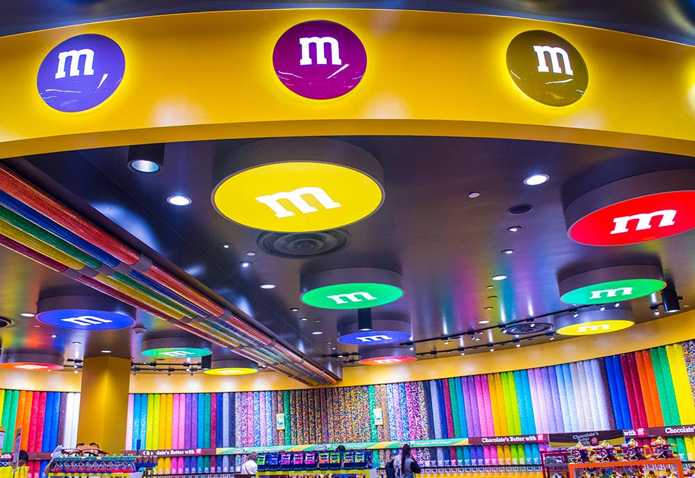 M&M's World store in Las Vegas.
