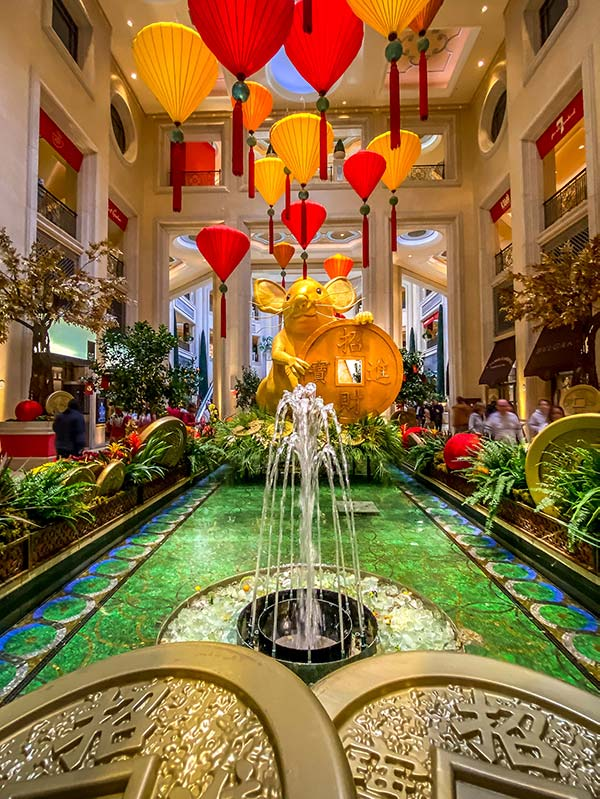Waterfall Atrium in the Palazzo