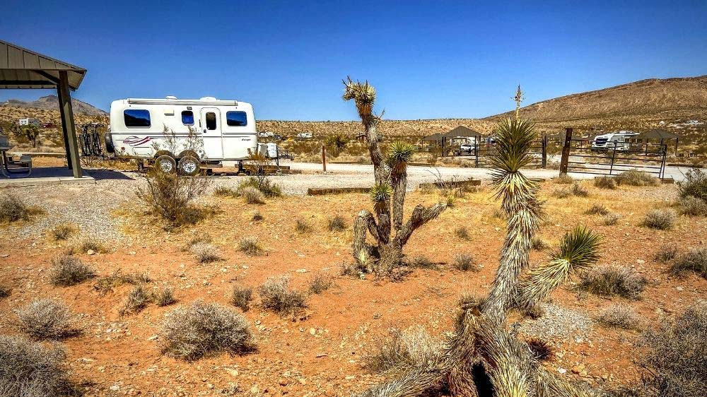 Rv's and trailers at Red Rock Canyon Campground