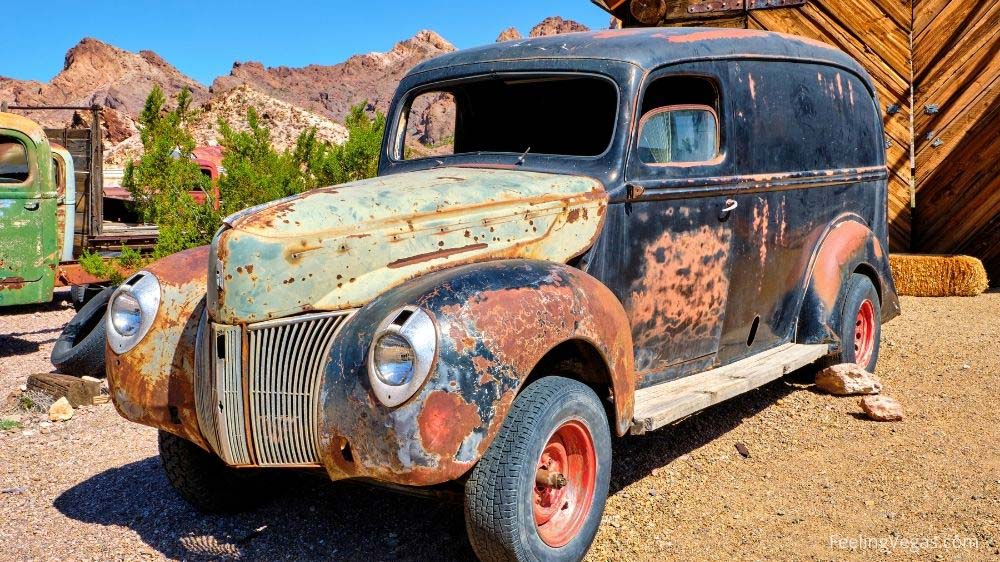 Antique car rusts in Nelson Ghost Town near Las Vegas