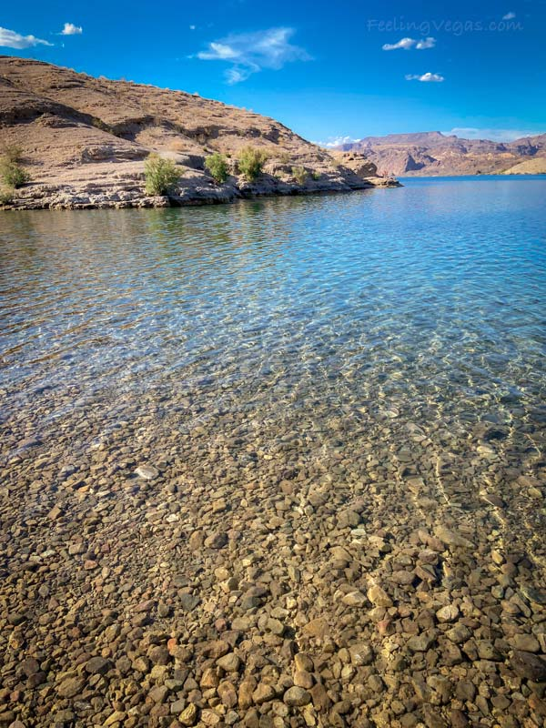 The water at Nelson's Landing is crystal clear and perfect for swimming.
