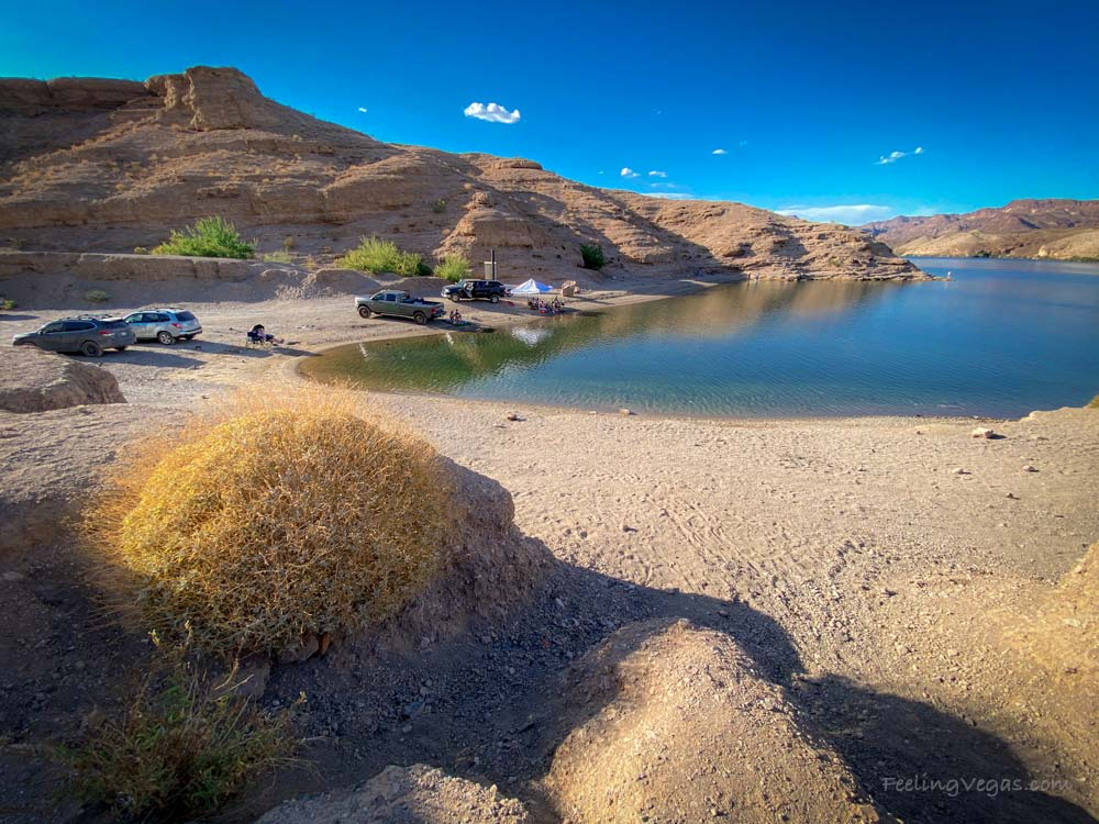 Nelson's Landing is a beautiful cove and beach along the Colorado River.