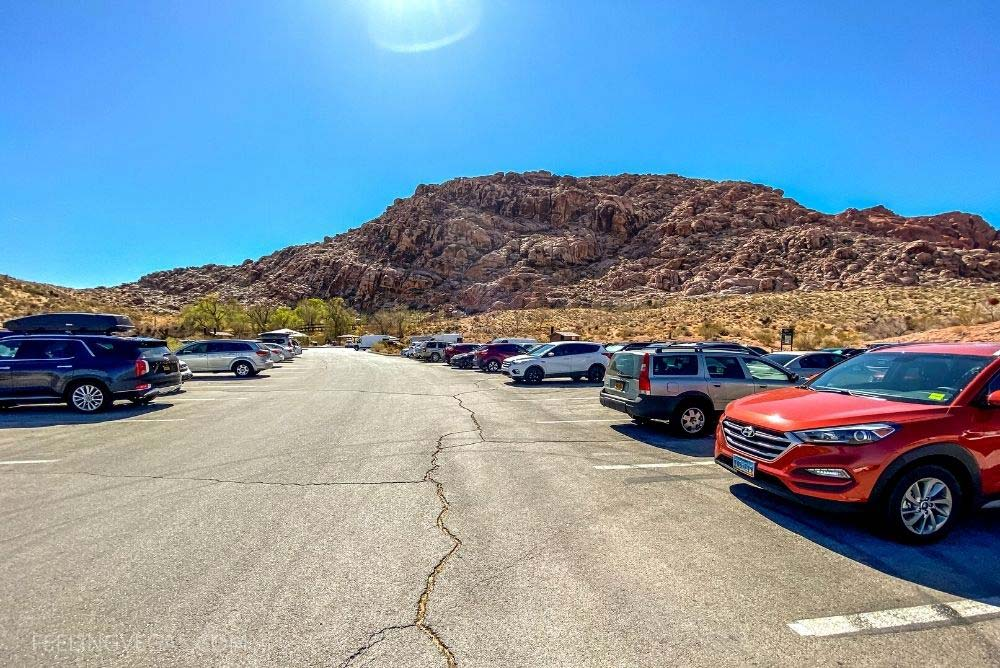 The parking lot at Red Spring is fairly good size, with plenty of pull-through spots for larger vehicles or RV's if it's not too crowded.