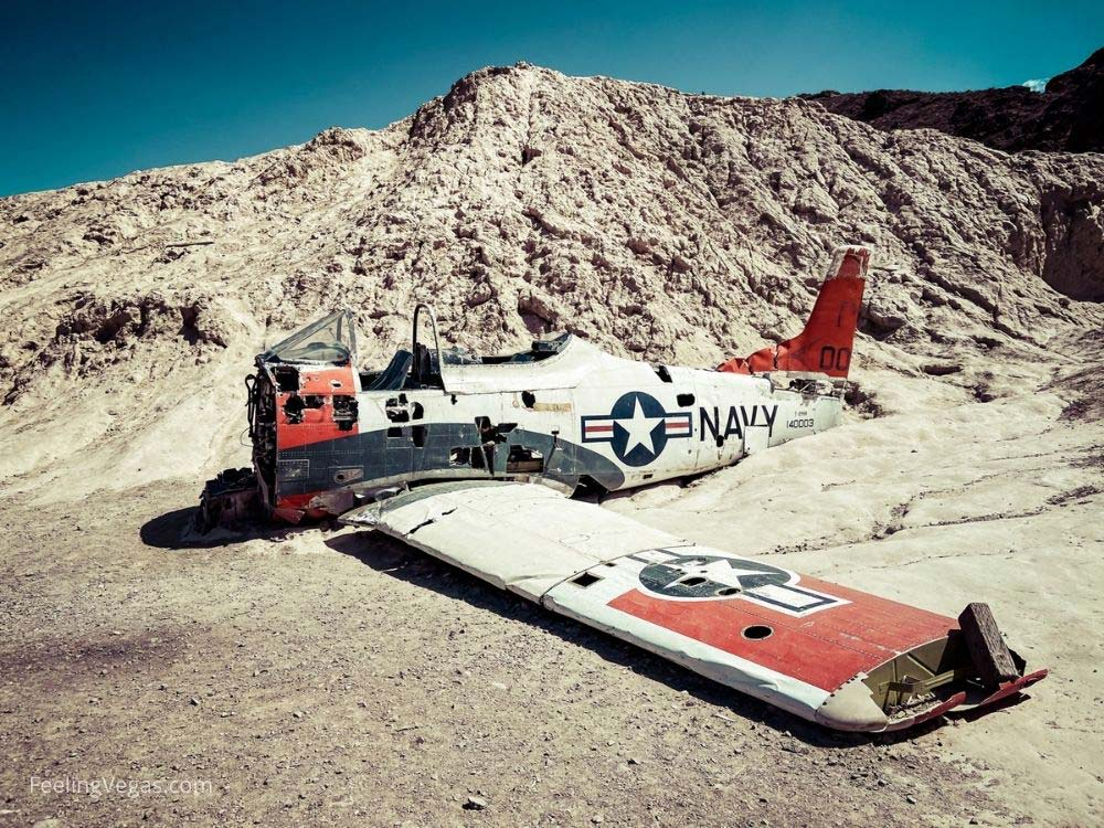 Crashed plane at Nelson ghost town near Vegas.