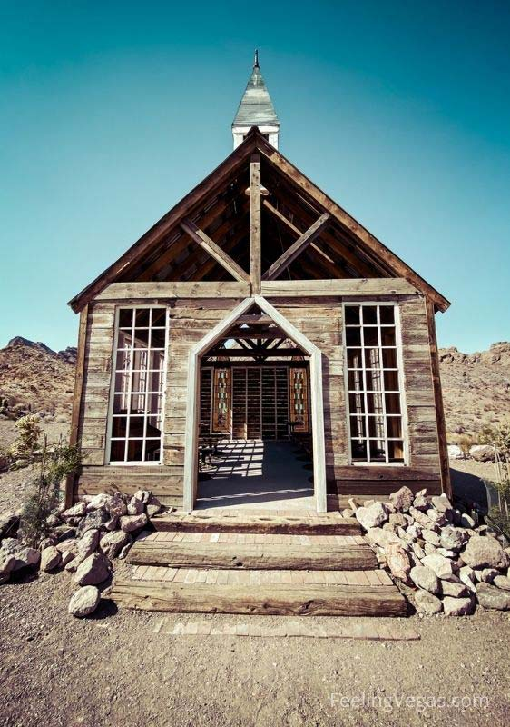 The wedding chapel in Nelson Ghost Town.