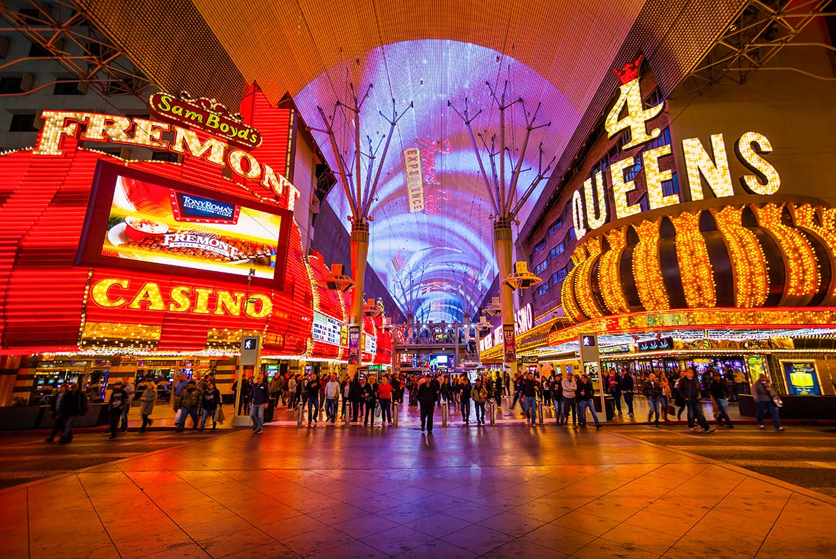 Fremont Street Experience at Night (Free Image)