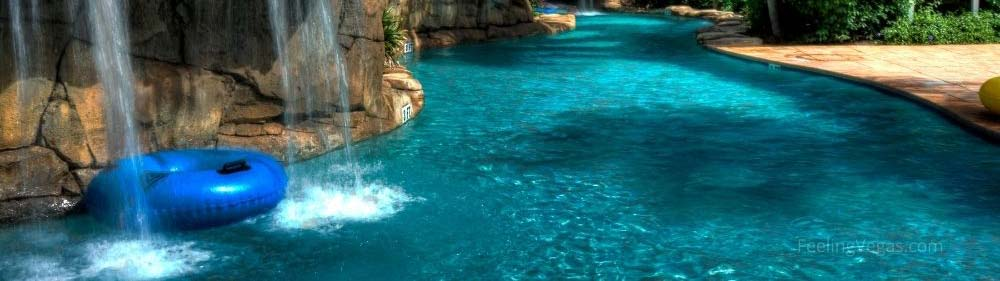 3 hotels with lazy rivers in Las Vegas.