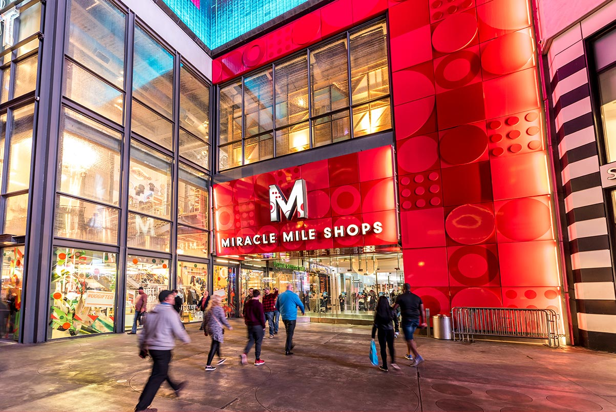 Miracle Mile Shops at Planet Hollywood on the Las Vegas Strip