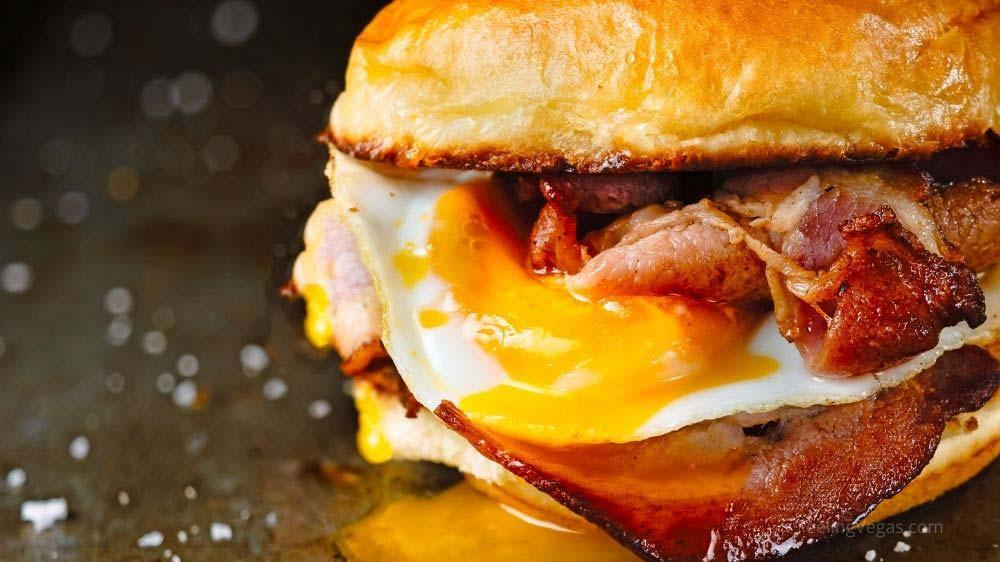 Breakfast egg sandwich.