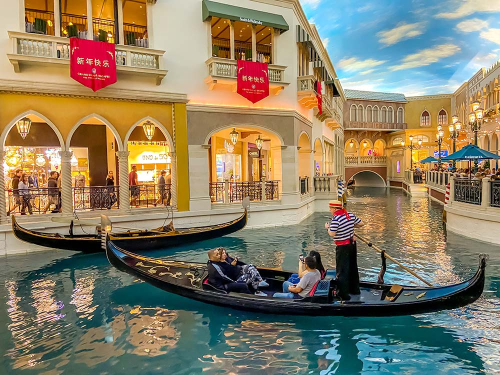 How much are the gondola rides at The Venetian in Las Vegas?