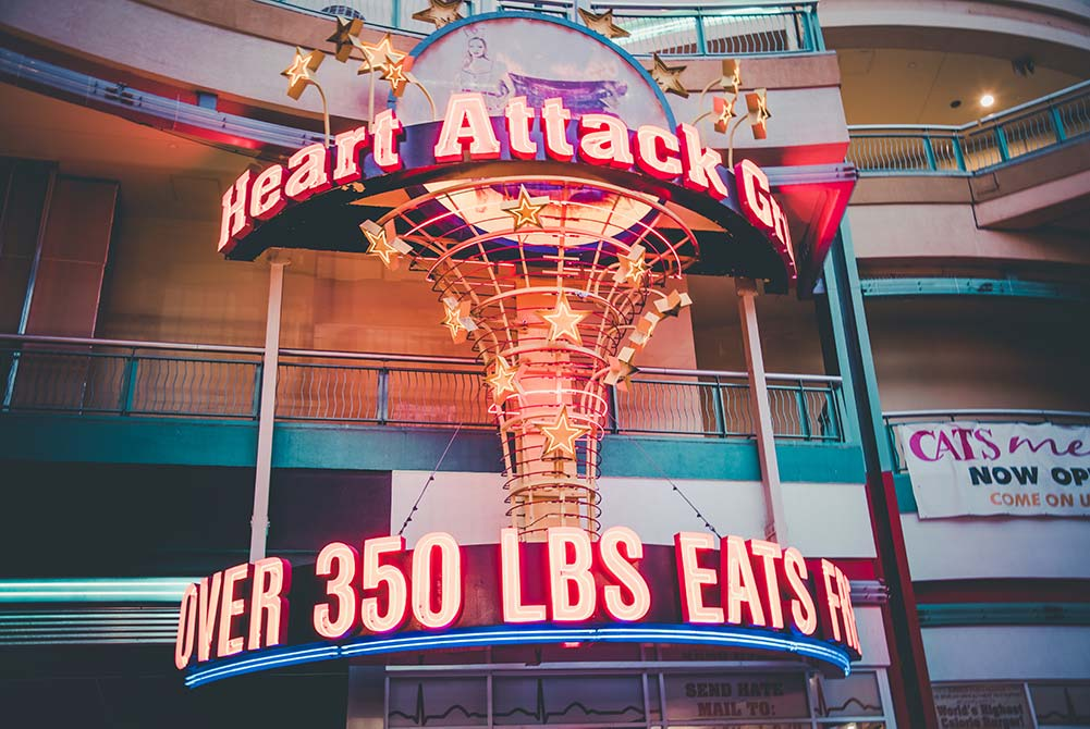 The Heart Attack Grill on Fremont Street in downtown Las Vegas.
